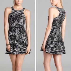 Parker Evony Pandora Printed Mesh & Silk Dress